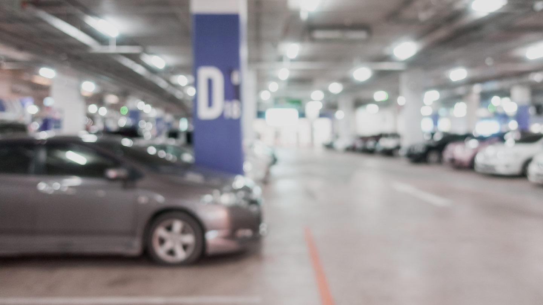 Reservierter Privatparkplatz
